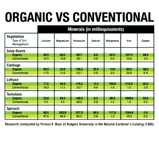 Organic vs Conventional Foods?