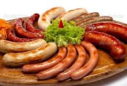 Image Sausages health risks cancer, cardiovascular diseases, hepatitis