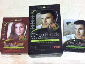 Natural Hair Color Treatments - NATURE SYNC ONYX BLACK TCM* HAIR BLACKENING ESSENCE