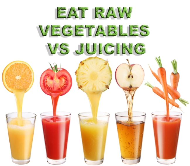 Image EATING RAW VEGETABLES VS JUICING