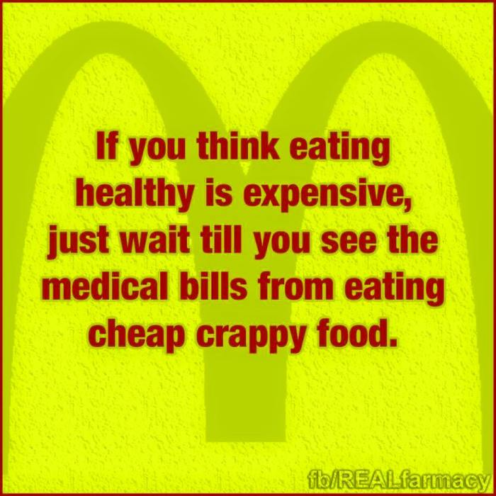 junk food is expensive