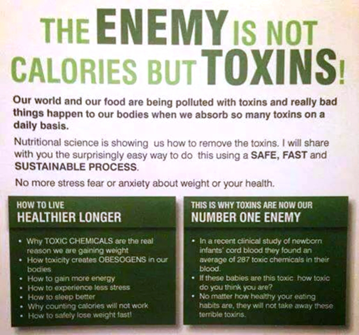 Toxins not Calories should be your priority when selecting food