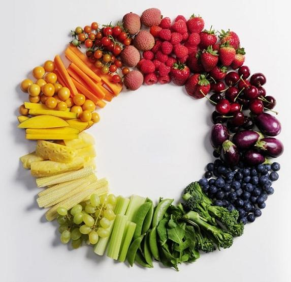 Eat the rainbow of fruits and vegetables to reduce the risk of visceral fat buildup