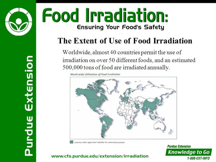 Countries that Irradiate their foods